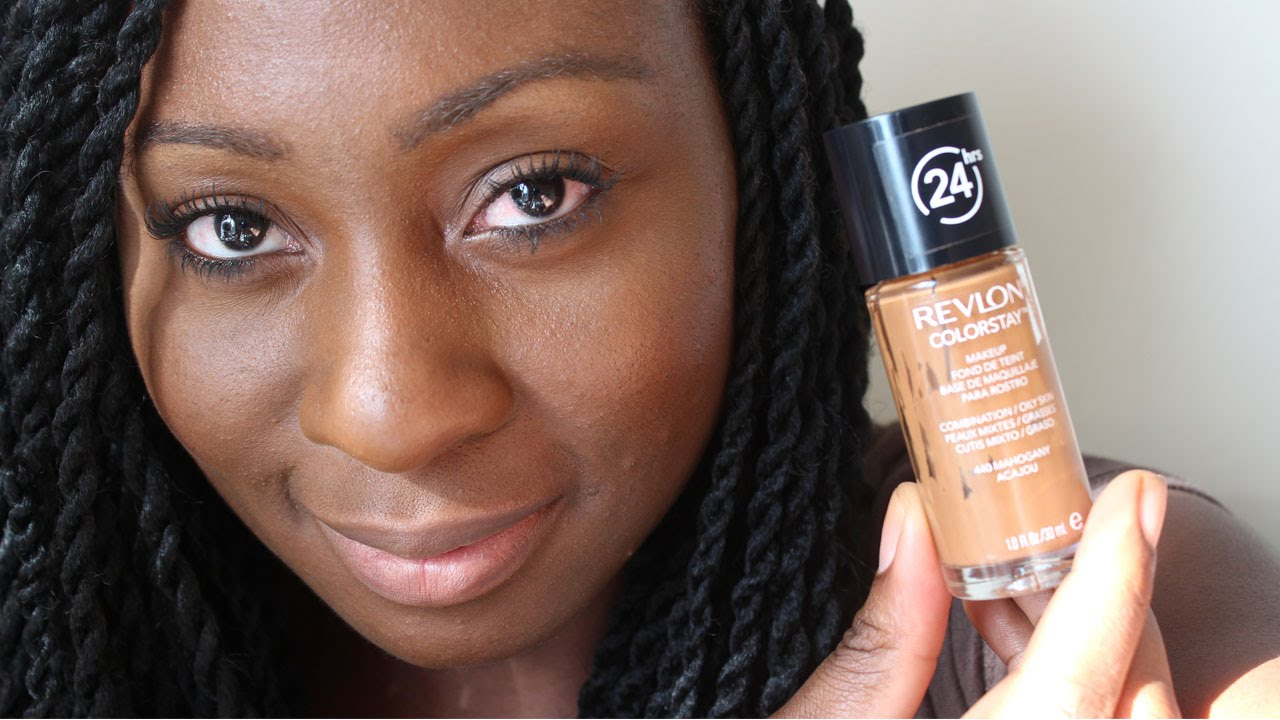 Revlon Colorstay Foundation | Review & Demo for Oily Skin - YouTube