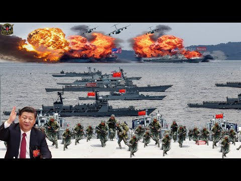 World War Begins (oct 20 2020): China Send Strength Military to invade Taiwan in the South China Sea