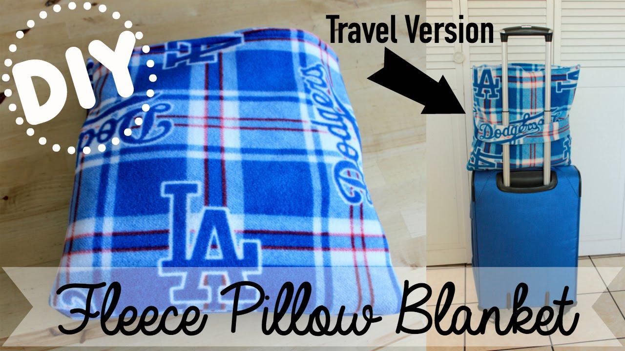 No Sew Fleece Travel Pillow: DIY Fleece Pillow Blanket   Basic Pillow & Travel Version   YouTube,