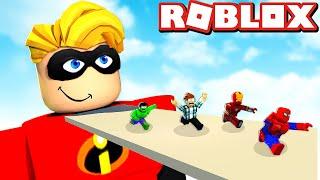 Roblox - OS HERÓIS DOS VINGADORES LUTARAM COM OS INCRÍVEIS ! ( Super hero Tycoon )
