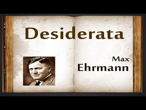 Desiderata by Max Ehrmann - Poetry Reading