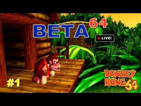 Donkey Kong 64 #1 - Beta64 Live (JFF)