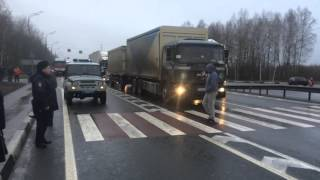 забастовка дальнобойщиков в Смоленской области (Сафоново)