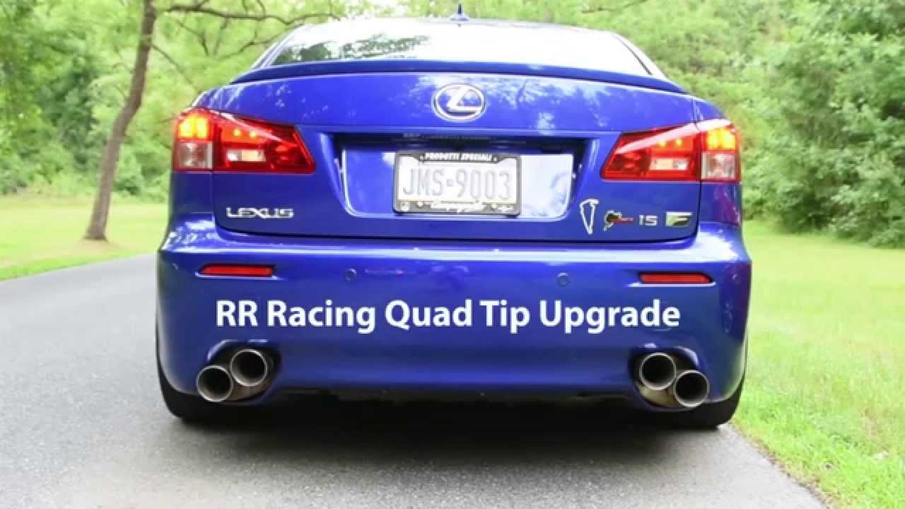 rr racing exhaust systems for lexus is f youtube. Black Bedroom Furniture Sets. Home Design Ideas