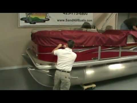 How To Install The Mooring Cover On A Pontoon Boat Presented By Sandhill Boat Company In Dayton Tn