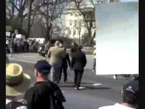 John Lewis Walking Through Tea Party Protesters