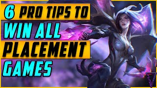 Use These 6 Pro Tips To Win All Placement Games In Season 10 | Season 2020 League of Legends