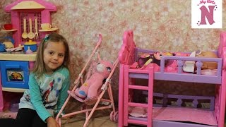 Беби Борн Игрушечная кроватка коляска и одежда для куклы Кормим одеваем Baby Born doll