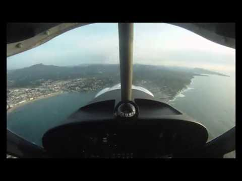 Ultralight full flight Biarritz -Larun-Biarritz over coastline and surf spots