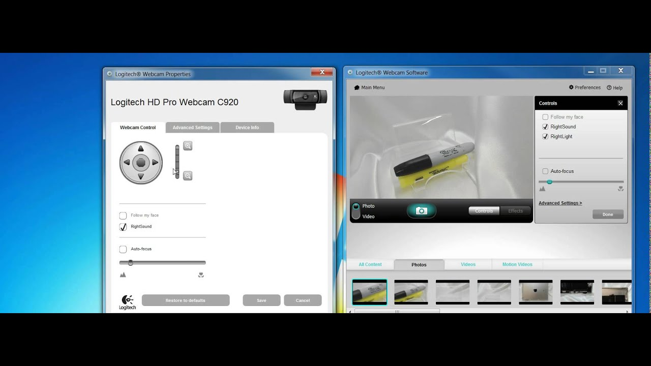 How to Zoom in with Logitech C920 Webcam Quick Capture - YouTube