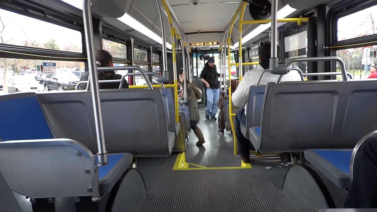 NICE Bus Riding inside of the New Flyer XN40 1898 NICE Bus N27 Local Bus  YouTube