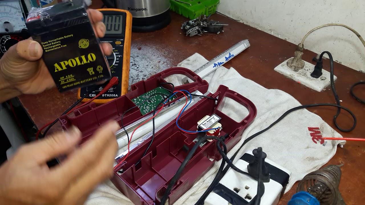 Sửa Đèn sạc Panasonic(đèn tích điện) hay hư .Repair Panasonic charger not lighting.inbox 0909106234