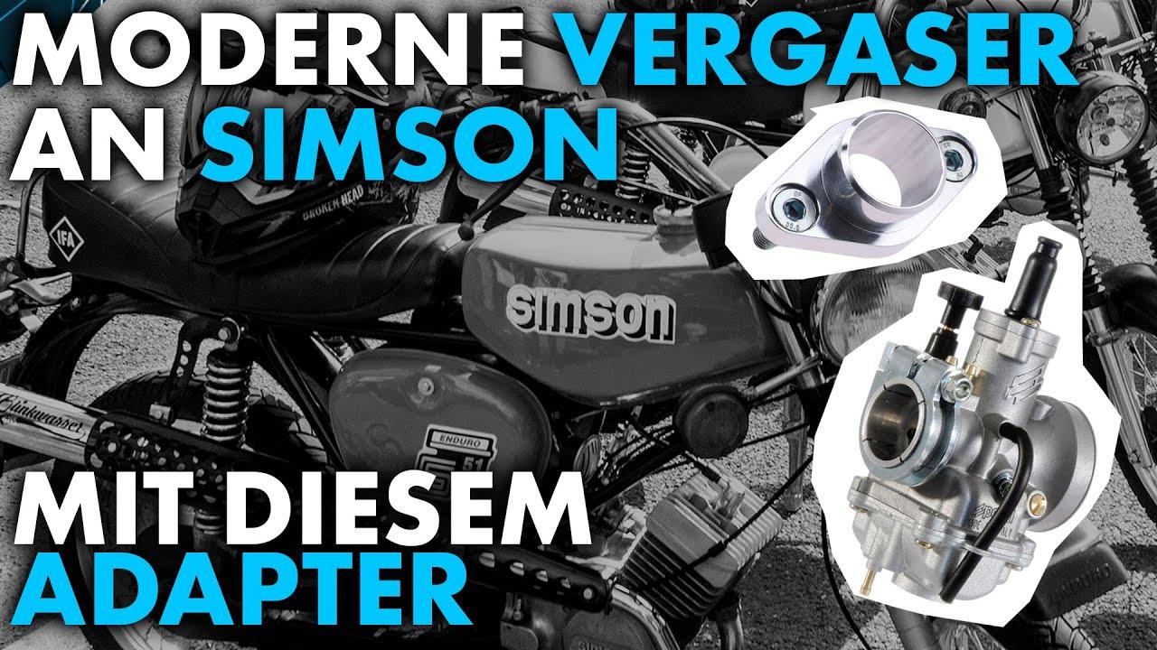 Moderne Vergaser an Simson-Mopeds! Neuer Adapter von Schmitt (Ansaugstutzen / Flansch)