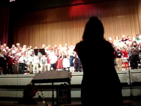"""East Rochester Elementary School (NH) - Grades 1-5 performing """"Rockin' on the Housetop"""""""