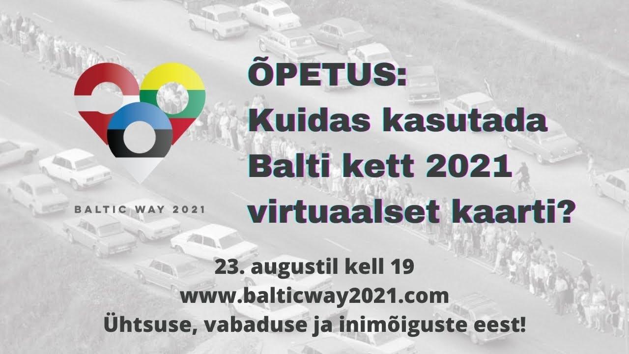 BALTI KETT 2021 A&O: kuidas osaleda, ohutusreeglid ja VIRTUAALNE KAART!