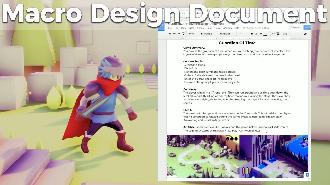 Game Jam Macro Design Document Guide And Template Indie Game - Art design document