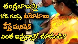 చంద్రబాబు పై కోడిగుడ్లు, టమోటాలు వేస్తే మనిషికి ఎంత ఇస్తున్నారు తెలుసా? || Chandrababu Vizag Tour