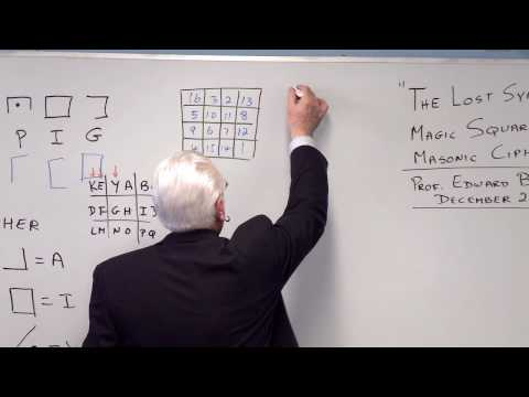 'The Lost Symbol' - Magic Squares and the Masonic Cipher