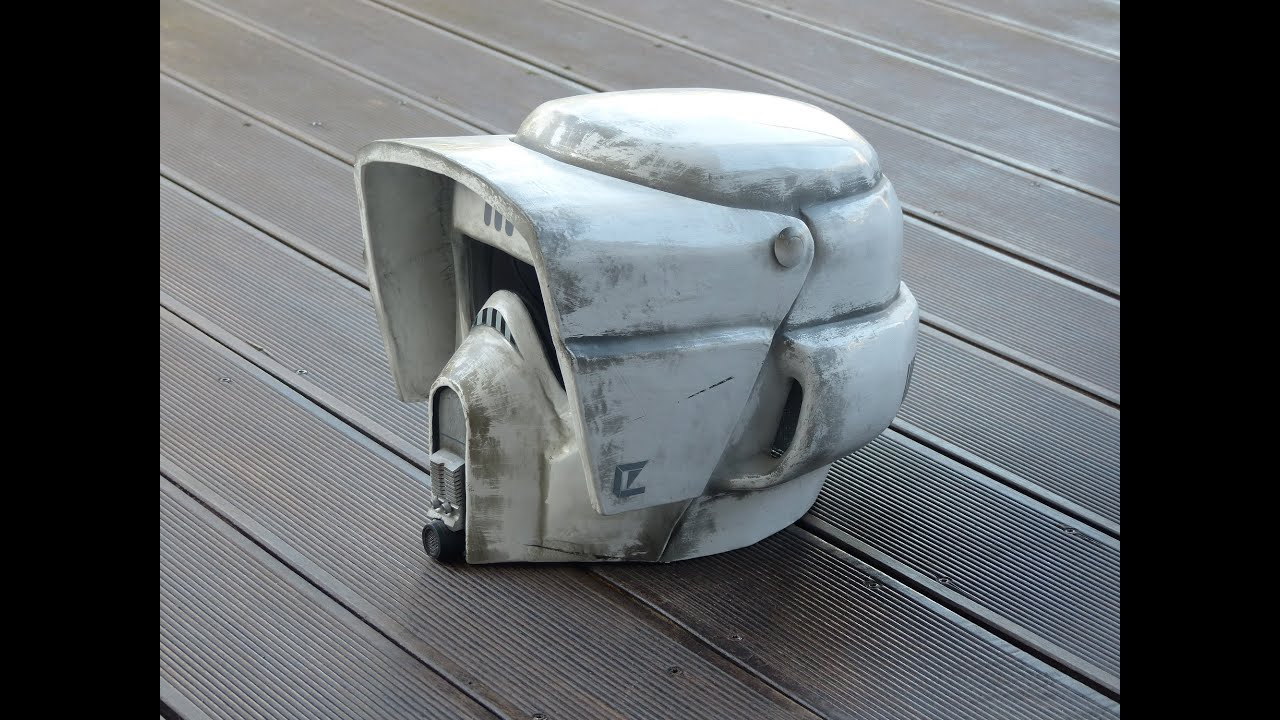 Star Wars, making Biker Scout Trooper Helmet, selber bauen, pepakura ...