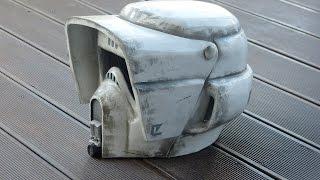 Star Wars, making Biker Scout Trooper Helmet, selber bauen, pepakura / pepacraft, 66target