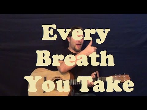 Every Breath You Take (The Police) Easy Strum Guitar Chords How to ...