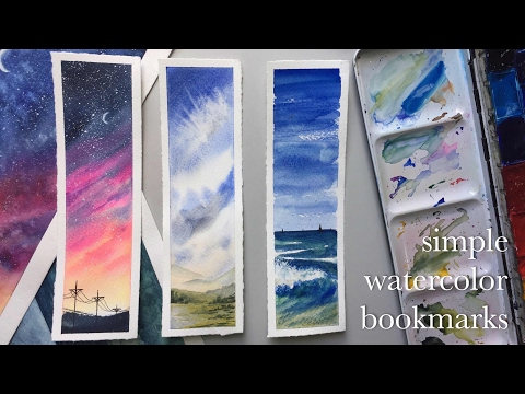 making watercolor bookmarks