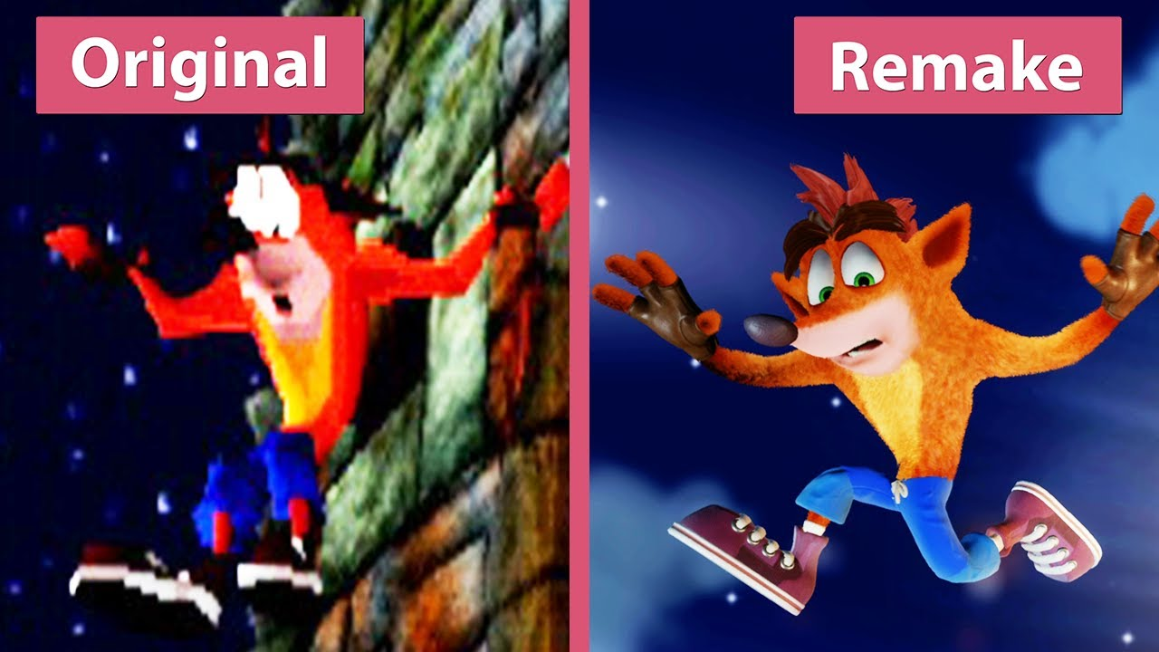 Crash Bandicoot – Original (1996) vs  N  Sane Trilogy (2017) Remake PS4 Pro  Graphics Comparison