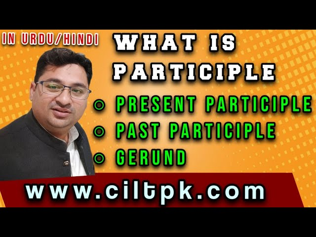 What is Participle in Urdu Hindi