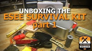 Unboxing the ESEE Large Survival Tin Kit