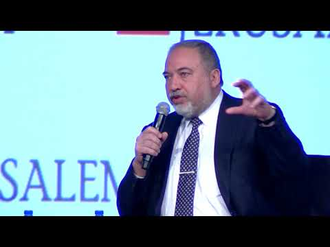 Defense Minister Avigdor Liberman speaks on Iran at the 7th Annual Jpost Conference in NY