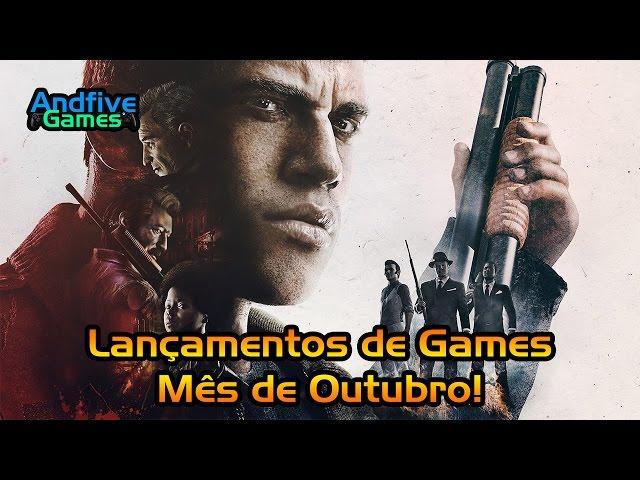 Lançamentos de Games Outubro 2016 Mafia 3, Battlefield 1, Gears of War 4 e Muito Mais