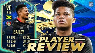 JAMAICA'S BEAST!😱 90 TEAM OF THE SEASON BAILEY PLAYER REVIEW! FIFA 21 ULTIMATE TEAM