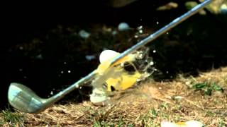 Eggs Golfing in Slow Motion - Happy Easter | Slow Mo Lab