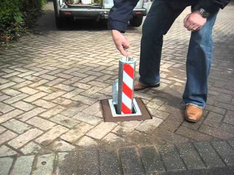 Operating a lift assisted heavy duty telescopic security bollard by Security Bollards Direct.