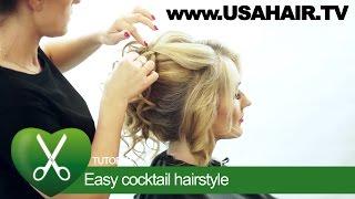 Easy сocktail hairstyle. parikmaxer TV USA | parikmaxer TV USA