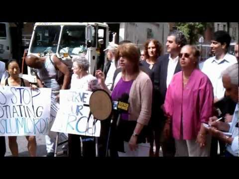 Rally on 95th: NY State Assemblywoman Linda Rosenthal