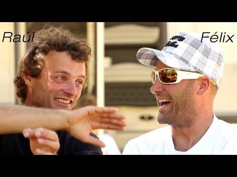 Pál Takáts interviewing Raúl and Félix Rodriguez during EVOLUTION film shooting