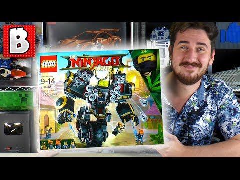 LEGO Ninjago Movie Quake Mech Set 70632!   Brick Vault LIVE - LEGO Ninjago Movie Wave 2 (2018) set!