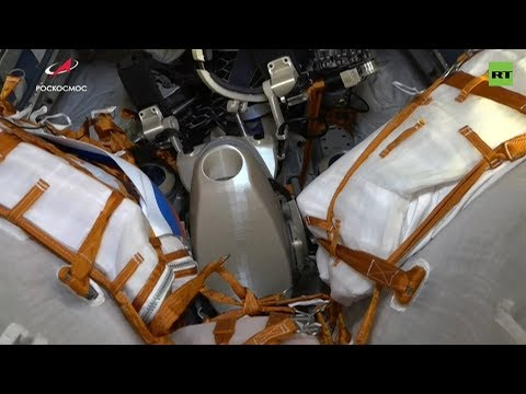 «Союз-МС-14» с роботом FEDOR на борту вернулся на Землю — видео