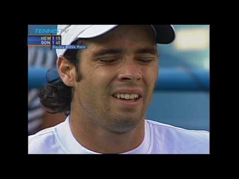 Fernando Gonzalez vs Lleyton Hewitt - Cincinnati 2002 Semi Final (HD)