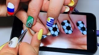 Getting nails done during World Cup: Natalia's FIFA nail art
