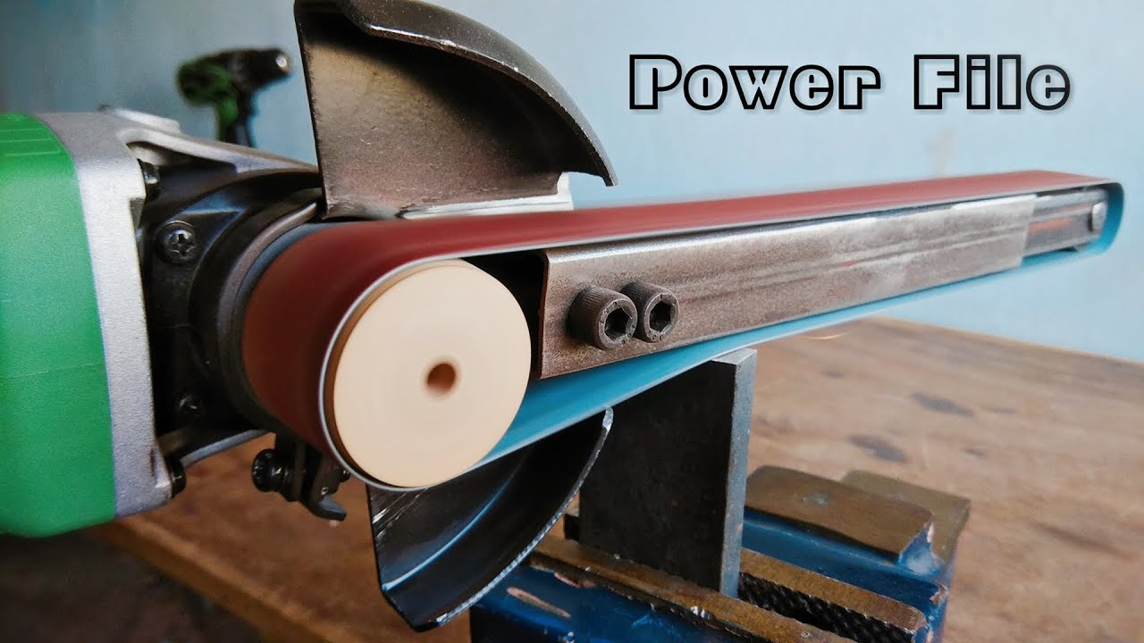 How To Make A Power File Angle Grinder Hack Youtube