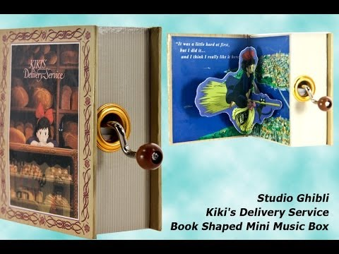 Studio Ghibli Kiki's Delivery Service Book Shaped Mini Music Box