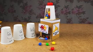 Simple M&M's CANDY DISPENSER from CARDBOARD