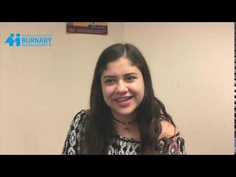 Burnaby International: Student Maria, Mexico- Reviews Burnaby South Sec. (Spanish)