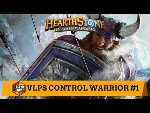 [Hearthstone] VLPS Control Warrior #1 (3 games + Dirty Rat tips)
