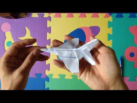 """วิธีการพับเครื่องบินรบโดยพับ """"พับกระดาษ"""""""