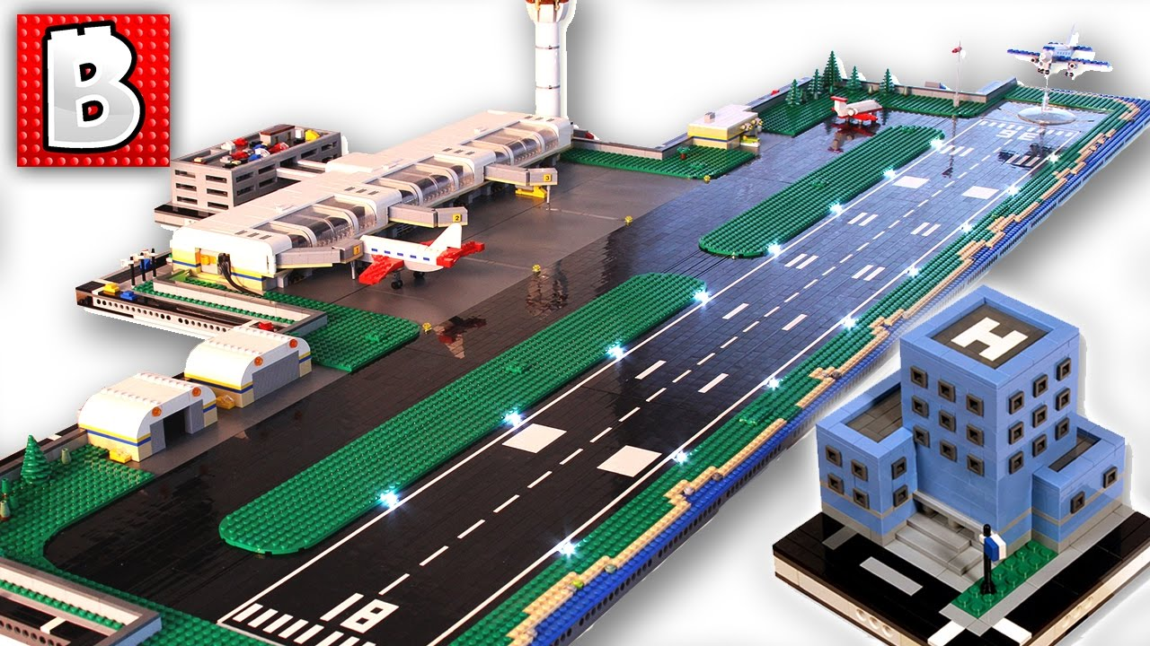 Giant LEGO Airport!!! | How To Build Micropolis LEGO City ...