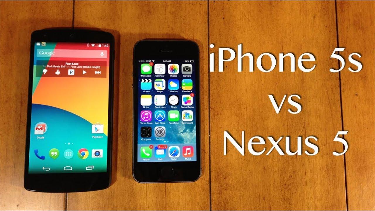 nexus 5 vs iphone 6 comparison
