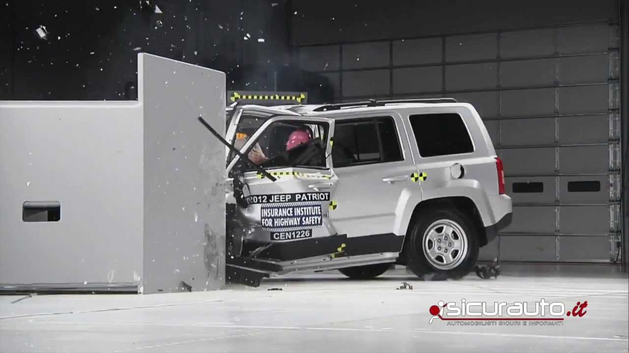 Crash Test Small Overlap IIHS   Jeep Patriot   YouTube